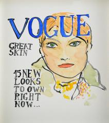 British Vogue Cover (one of a kind fashion painting)