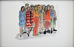 Alessandro Michelle first collection for GUCCI (one of a kind fashion painting)
