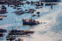 Boat Graveyard (Aerial Photography)