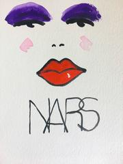 Nars (one of a kind watercolor painting of makeup brand)