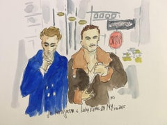 Jon Koratajarena and Luke Evans in New York City