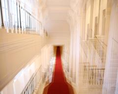 Albertina Palace Down Stairs (cropped), architectural color photography