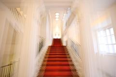Albertina Palace Up Stairs (full framed), color architectural photography