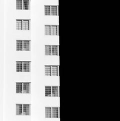 Miami Abstractions 2, Abstract Black and White Architectural Photograph, 2016
