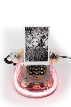 'Neon Diva'  from the Castelloland series - Contemporary Color Photograph