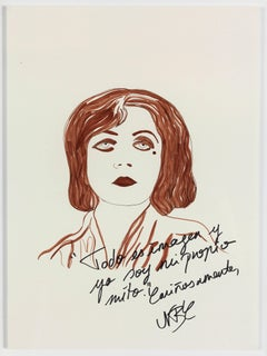 Paloma Castello - Pola Negri The Disenchanted Project- Ink on paper One of a kind drawing