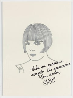 Paloma Castello - Louise Brooks The Disenchanted Project- Ink on paper One of a kind drawing