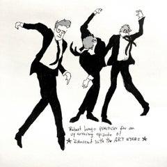 Robert Longo Dances -  One of a kind watercolor