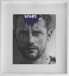 Heart - Alexander Skarsgård B&W Mixed Media Photograph
