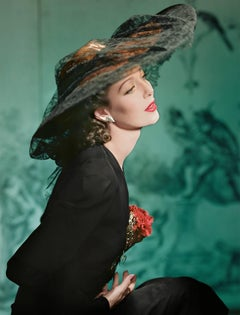 Fashion in Colour - Loretta Young, New York, 1941,  Small Color Photograph
