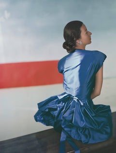 Fashion in Colour-Dorian Leigh, Dress by Henri Bendel, 1946, Color Photo, Framed