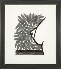 Seascape Tit with Scribble, Framed Silkscreen on Woven Paper, 1991
