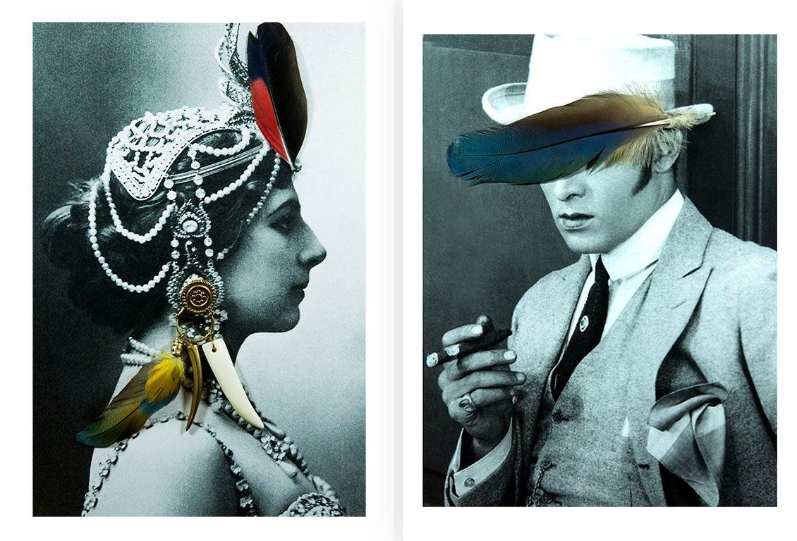 Diptych: Mata Hari and Rudolph Valentino from the Castelloland series