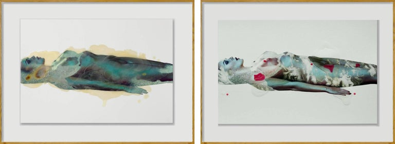 Muse Series #1 and #2, Framed Mixed Media Diptych, 2016
