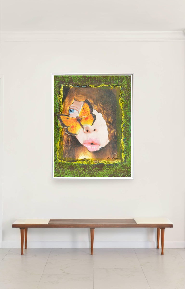 "Natasha Zupan Portrait Print - ""Eternal Recurrence #5"" Enlarged Photo Collage Print, Framed"