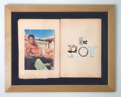 "The Boy ""Tony Curtis""- Vintage Photograph Mixed Media on paper Framed"