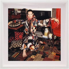 "Gloria Vanderbilt in ""Adolfo Couture"" for VOGUE, Small Framed Color Photograph"