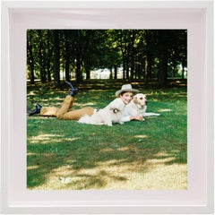 Lee Radziwill, 1971, Small Framed Color Portrait Photograph