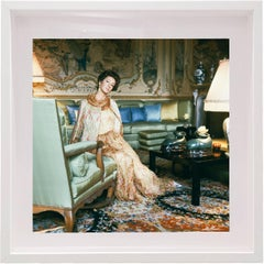 Marella Agnelli at Villar Perosa, Small Framed Color Photograph