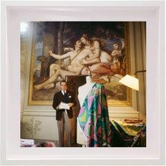 Marchese di Barsento Emilio Pucci at the Pucci Palace