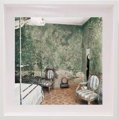 Baroness Pauline de Rothschild peeking through a secret door