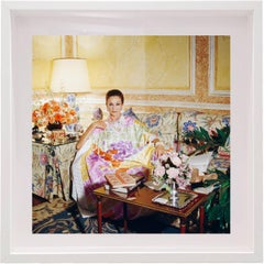 Countess Jacqueline de Ribes At Home, Small Framed Color Photograph