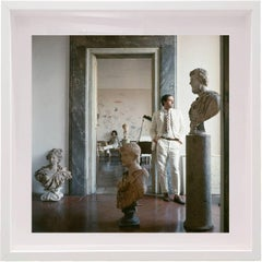 Untitled #9 Cy and Tatiana Twombly in Rome- Portrait Color Photograph