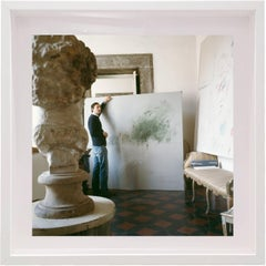 Untitled #24 Cy Twombly in Rome, Small Framed Portrait Color Photograph