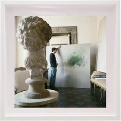 Untitled #30 Cy Twombly in Rome, Small Framed Portrait Color Photograph