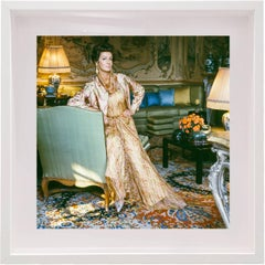 Marella Agnelli Valentino Dress at Villar Perosa, Small Framed Color Photograph