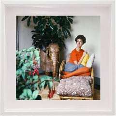 Untitled #9 Marella Agnelli, Small Framed Color Photograph
