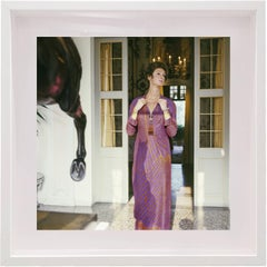 Untitled #3 Marella Agnelli, Small Framed Color Photograph