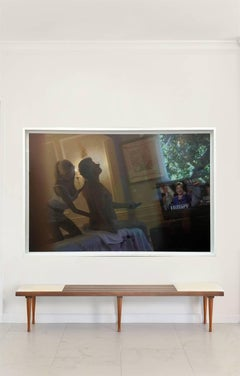 """Bill Clinton and Masseuse- """"Unsigned attributed to Alison Jackson"""" Framed"""