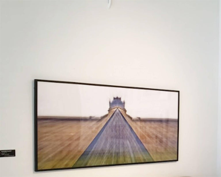 Louvre Blue Pyramid 4, Limited edition Photograph on Metallic Photo Paper framed 3