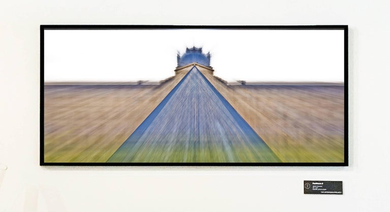 Jaime Palmera - Louvre Blue Pyramid 4, Limited edition Photograph on Metallic Photo Paper framed 1