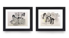 Cinderella in Beverly Hills Amal and George Clooney with Julia Roberts - Diptych