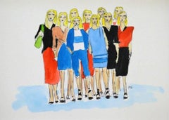 Tomas Maier Cruise Collection, Watercolor on Archival Paper, 2016