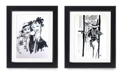 Coco Chanel in Paris & Coco Channel & Willow Smith - Diptych