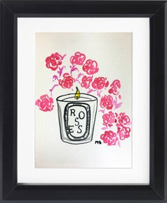 Diptyque Roses Candle Watercolor