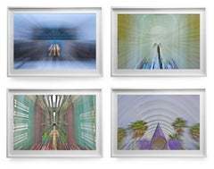 Architectural Quadriptych Color Photograph on semi-luster photo paper