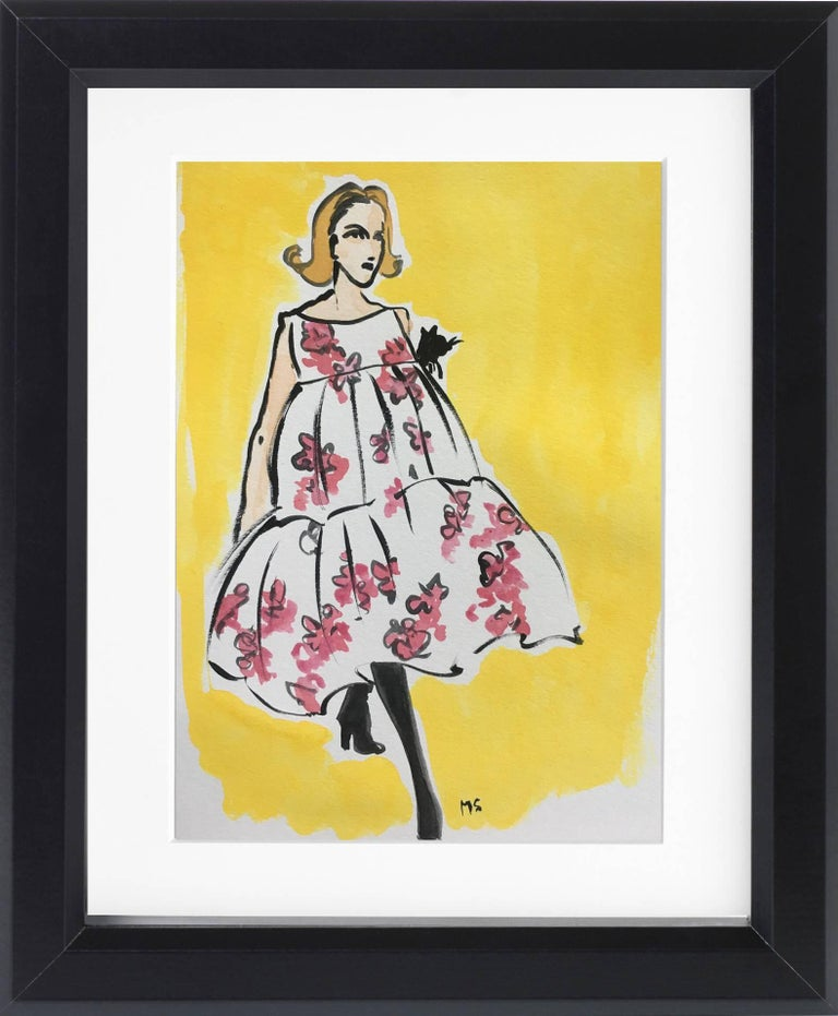 Balenciaga Puffy Dress & Summer Reading - Diptych - Contemporary Art by Manuel Santelices