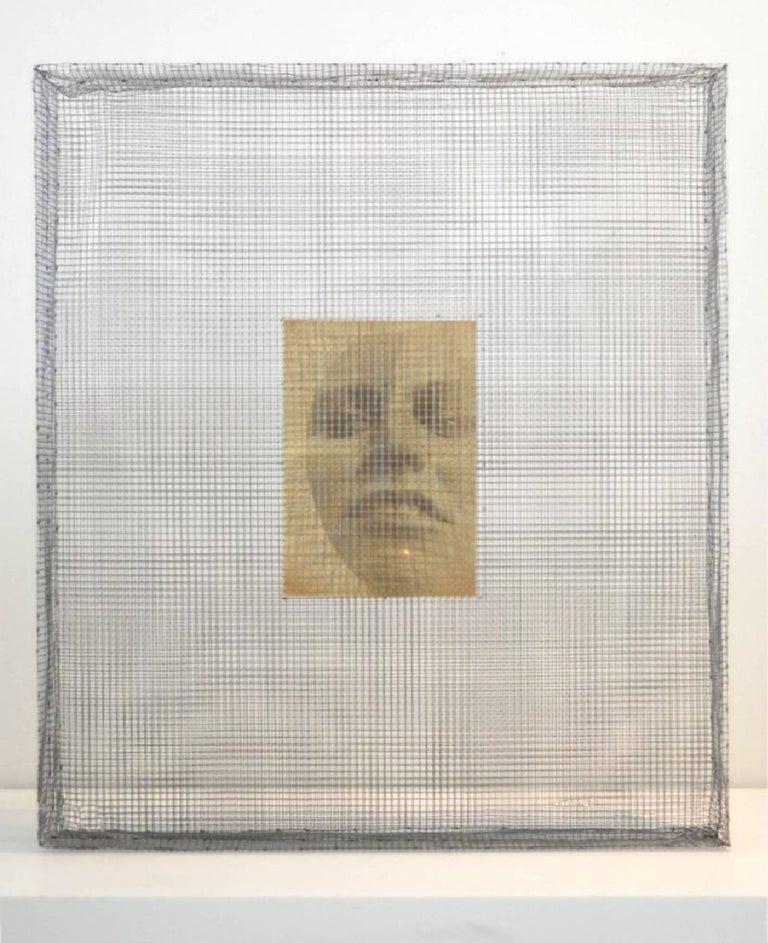 Sara Modiano Figurative Sculpture - Intimate- One of a kind three dimensional sculpture