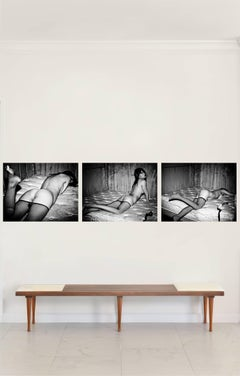 Shanghai #3, #4 and #6 Triptych, Small Nude Portrait B&W Print