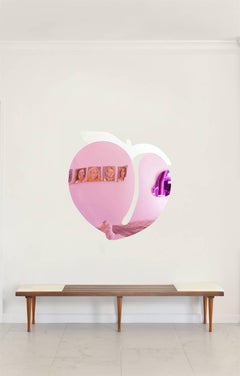 """""""Love MeTender/Quiereme Suavecito"""" Reflective plexi back neon-lit mirrored piece"""