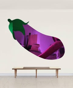 Quiereme Duro (Love Me Hard) -Purple Plexiglass Mirror wall Sculpture