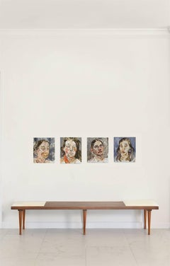 Another Guilty Woman #5 #7 # 2 #9 Polyptych Oil Paintings