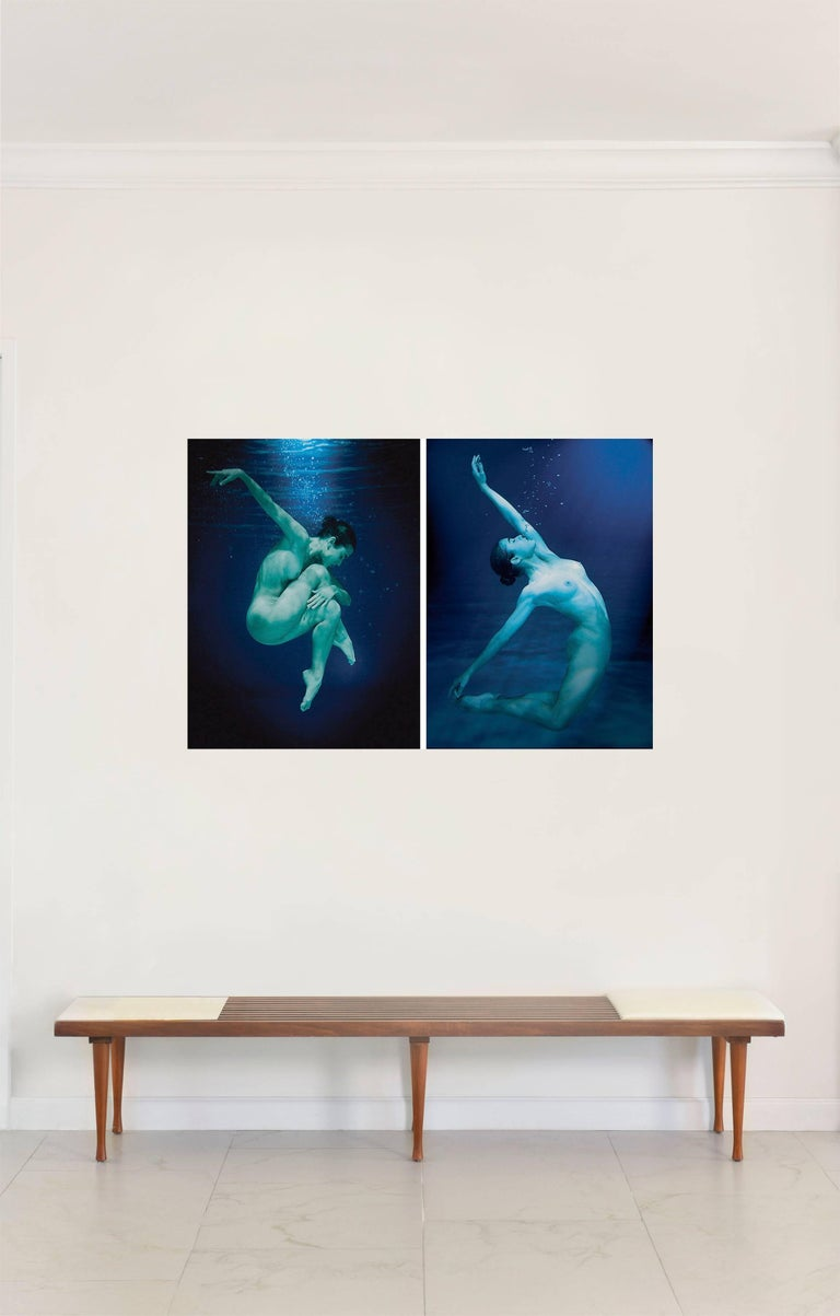 Mauricio Velez Portrait Photograph - Half Angels Half Demons #5 and #6 Diptych, Small Nude Portrait Color Photography