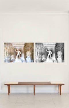 Villa Borghese Diptych Abstract Architectural Photograph