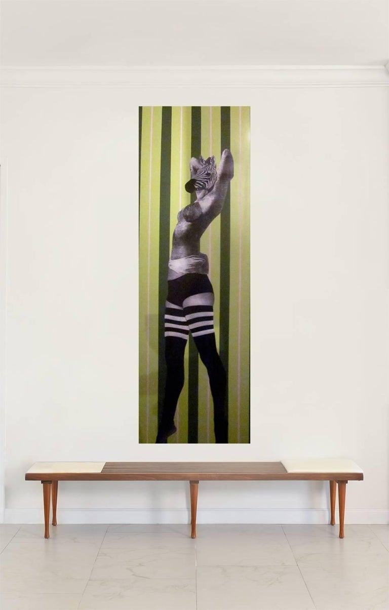 Zebra Woman One of a Kind Mixed Media on Wood