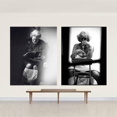 Queen on Loo & Camila as Keeler  Attributed to Alison Jackson /Unisigned Diptych